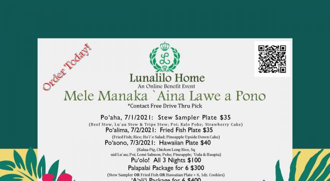 Mele Manaka Aina Lawe a Pono - Online Dinner Benefit